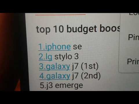 Boost Mobile top 10 budget phone List 2017