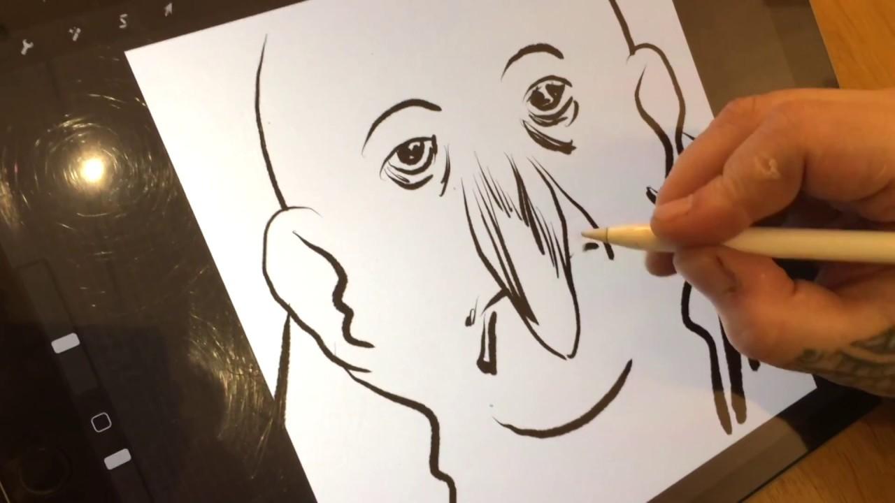 Comment dessiner un visage à la tablette graphique ? La 2e leçon de dessin de Manu Larcenet