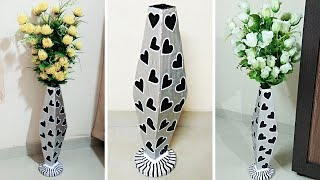#How to make handmade big flower vase with cardboard at home# DIY Flower Vase#