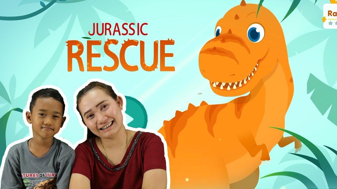 น้องโปรแกรม รีวิวเกมส์ Jurassic Rescue  | ทีเร็กซ์ไดโนเสาร์กู้ภัย