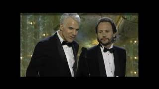 Steve Martin & Billy Crystal Sit At The Losers Table - Golden Globes 1990