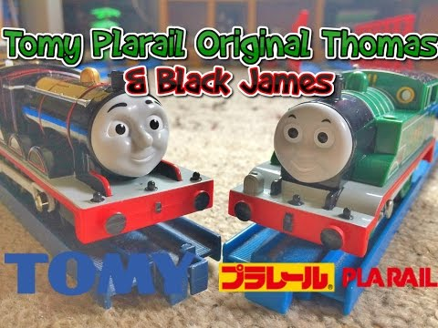 Tomy Plarail Original Thomas & Black James unboxing review & first run