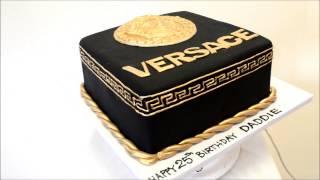Versace Theme Cake With Fondant Frosting - Birthday Cake Idea
