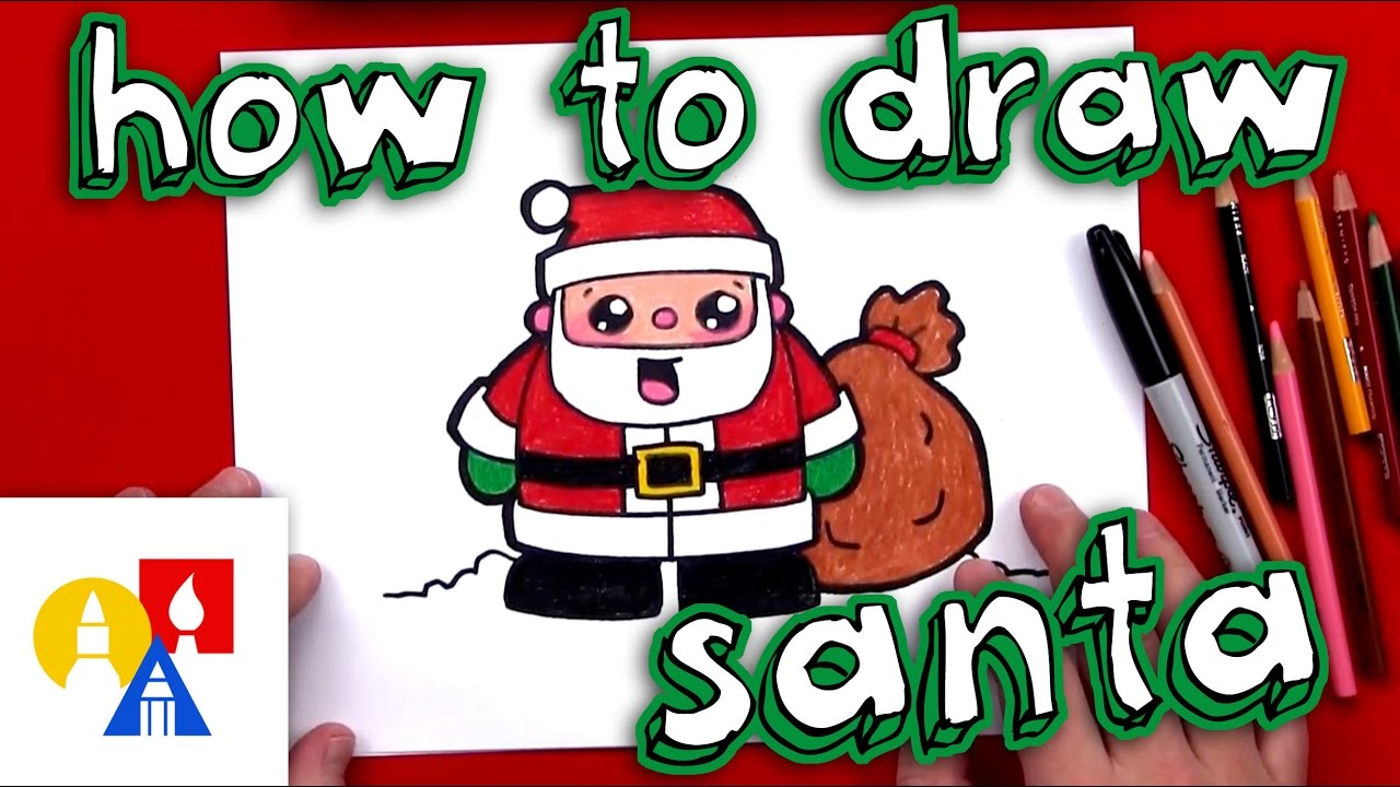how to draw cartoon santa claus
