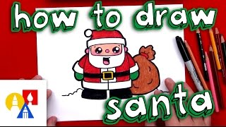 santa drawing lesson