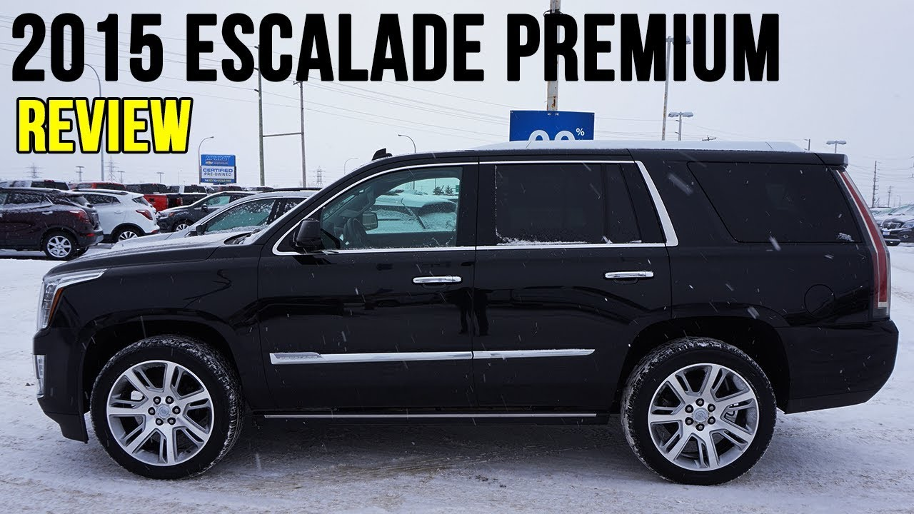 2015 Cadillac Escalade Premium Black In Depth Review Youtube
