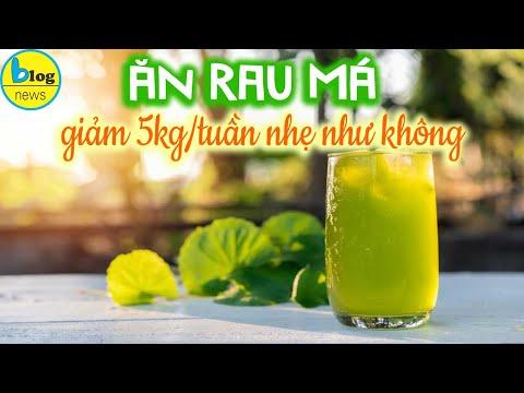 Giảm cân siêu tốc tại nhà bằng sinh tố RAU MÁ dễ uống