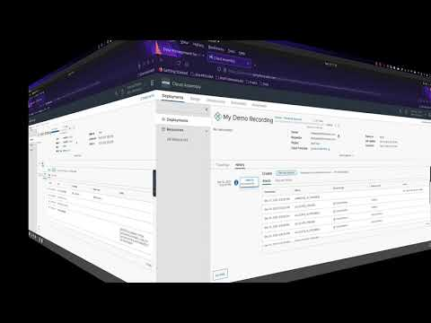 Demo:  Using vRealize Automation to create a database from Data Management for Tanzu