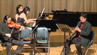 Bartok Contrasts for Clarinet, Violin and Piano BB 116 - 1st Movement