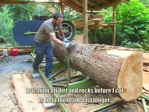 Homemade Bandsaw Mill Youtube