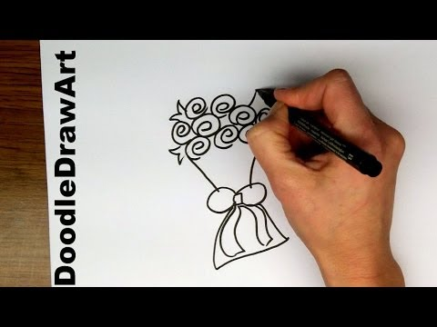 Speed Doodle - A Bouquet of Roses - Draw it fast! It's a doodle, it doesn't  have to be perfect!