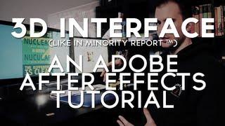 3d Interface VFX - Adobe After Effects Tutorial