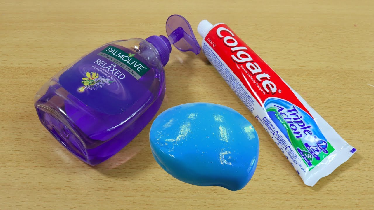 Colgate And Hand Soap Slime How To Make Slime Soap Salt And