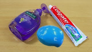 Colgate and Hand Soap Slime  How to Make Slime Soap Salt and Toothpaste, NO GLUE !!