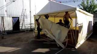 видео: Изготовление торговой палатки ПВХ в Новосибирске