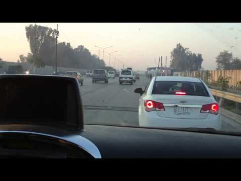 Iraq Baghdad - Driving on the highway of Iraqs capital (HD)