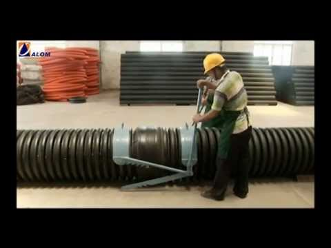 Double wall corrugated hdpe pipe by alom poly extrusions limited