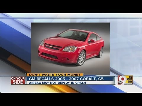 GM recalls 2005-2007 Cobalt, G5 - YouTube