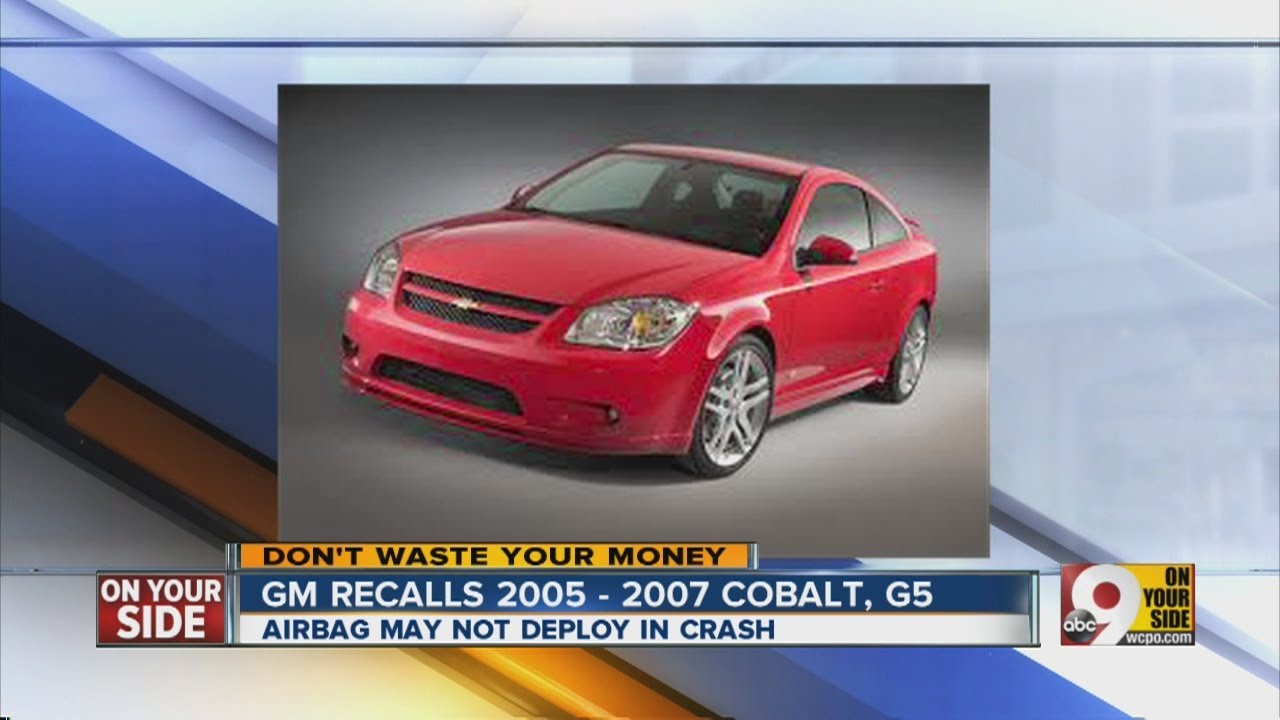 GM recalls 2005-2007 Cobalt, G5