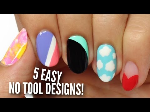 no-tool-nail-art:-5-easy-&-cute-designs!
