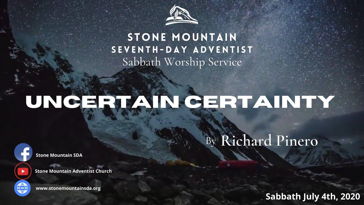 Uncertain Certainty - By Richard Pinero