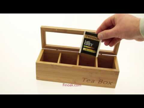 1049 - Bamboo Tea Box, Tea Caddy