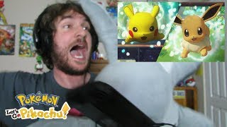 CRAZY REACTION! Pokémon: Let's Go, Pikachu! and Pokemon: Let's Go, Eevee! Trailer Reaction