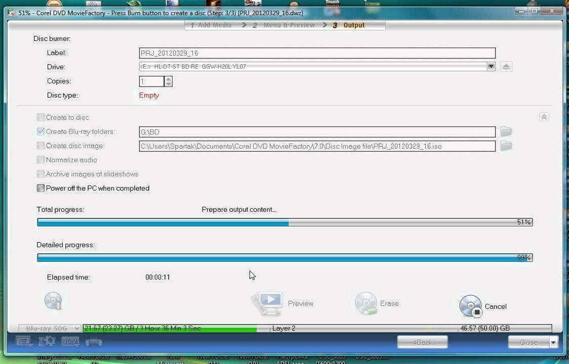 How to wright VOB DVD Files in DVD Movie Factroy Win 7 XP Vista Tutorial  2016