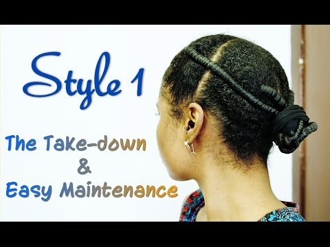 African Threading Style 1 | Maintenance  & Take-down