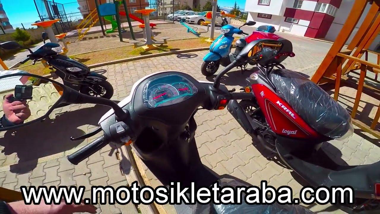 KRAL LOYAL 50CC ENJEKSİYONLU BENZİNLİ SCOOTER MOTOSİKLET
