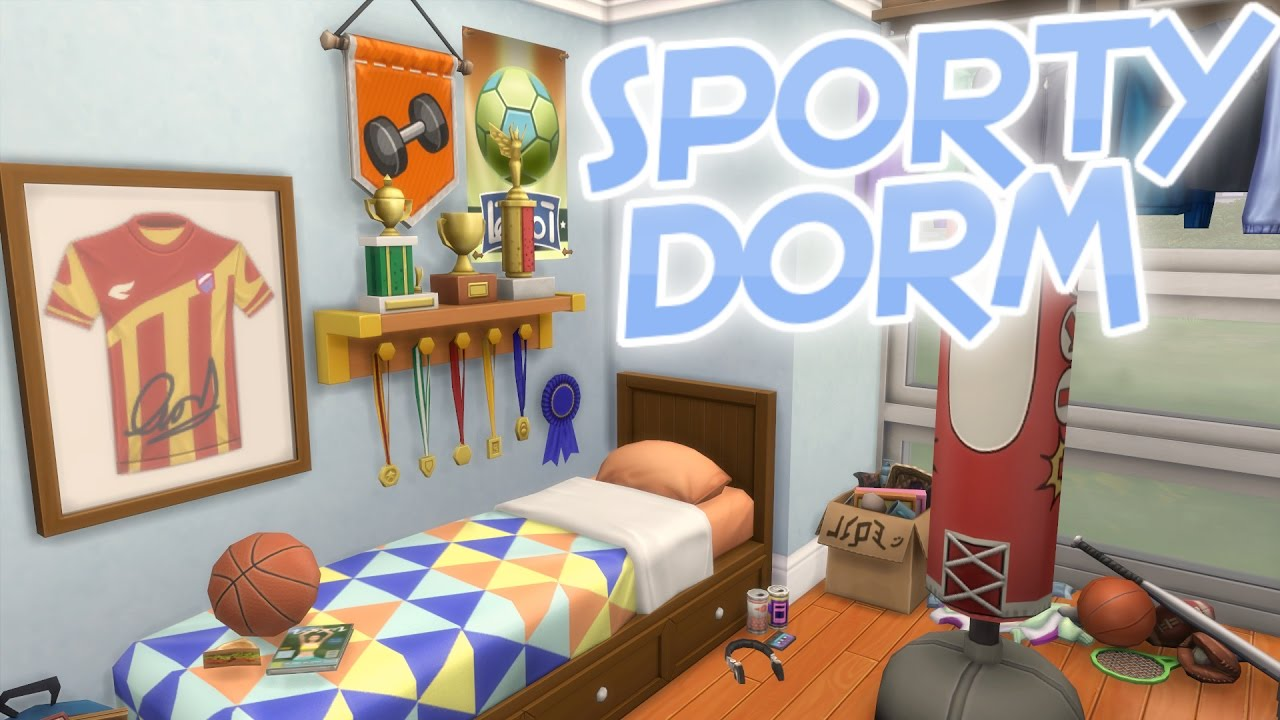 The sims sporty fitness dorm room speed build no