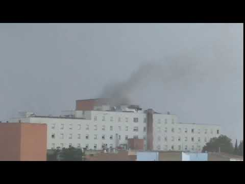 Incendio en el Hospital de Alarcos (Ciudad Real)