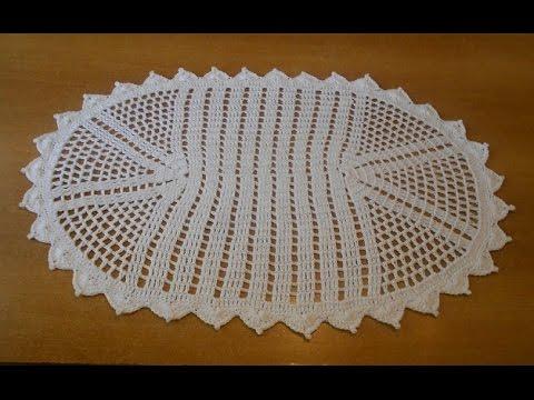 tapete de crochê simples branco