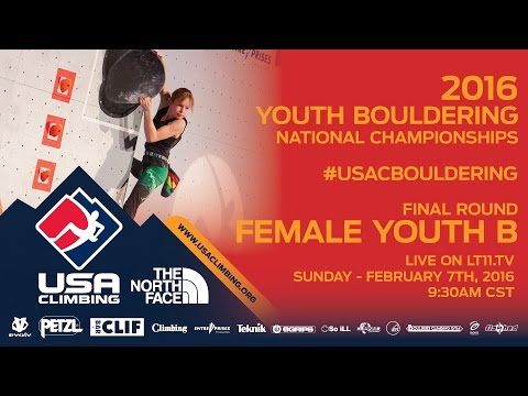 Female Youth B • Finals • Sunday February 7th 2016 • LIVE 9:30AM CST