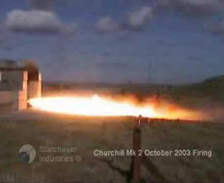 Churchill 2 engine firing