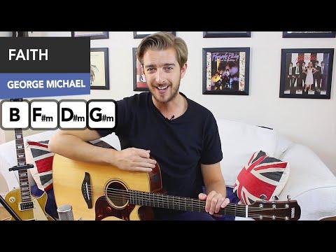 George Michael - Faith Guitar Lesson Tutorial ( how to play on guitar )
