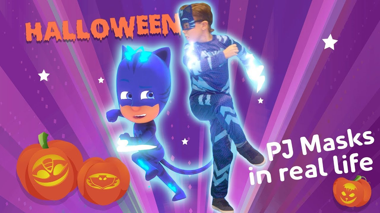 Halloween PJ Masks in Real Life ???? PJ Masks Official | Cartoons for Kids