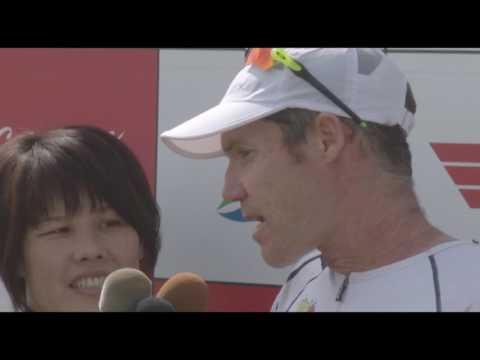 Miyakojima Triathlon 2017  Close to Champion Cameron Brown