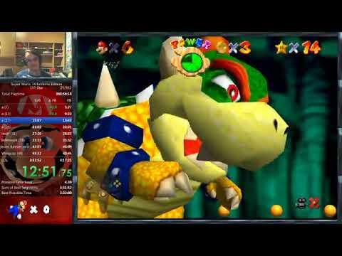Super Mario 74 Extreme Edition 157 star speedrun in 4:06:03