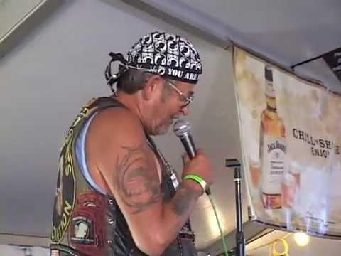 Laconia 2012 U.S. Combat Vet Sings Karaoke, Biker Build-Off Winner