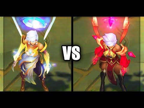 Dawnbringer Karma vs Conqueror Karma Skins Comparison (League of Legends)