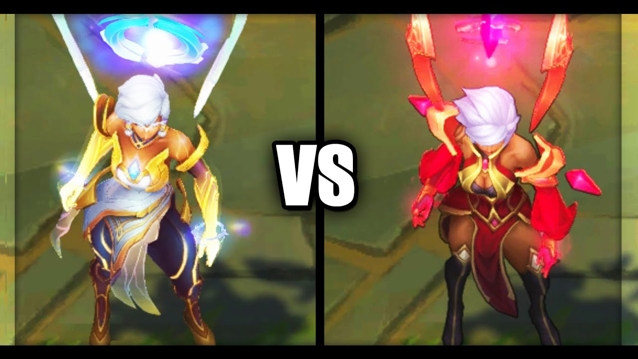 Dawnbringer Karma vs Conqueror Karma Skins Comparison (League of Legends)