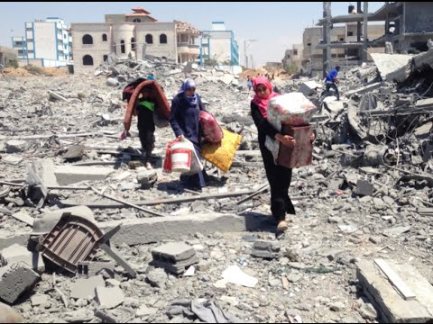 During Brief Lull, Gazans Return to Neighborhoods Destroyed & Bodies Beneath the Rubble