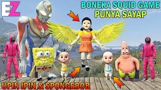 BONEKA SQUID GAME PUNYA SAYAP BISA TERBANG, UPIN IPIN SPONGEBOB SENANG - GTA 5 BOCIL SULTAN