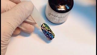 Дизайн ногтей с использованием акриловых красок с тонкой кистью Justnail