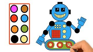 Robot Coloring Page - Robot Coloring Page For Children