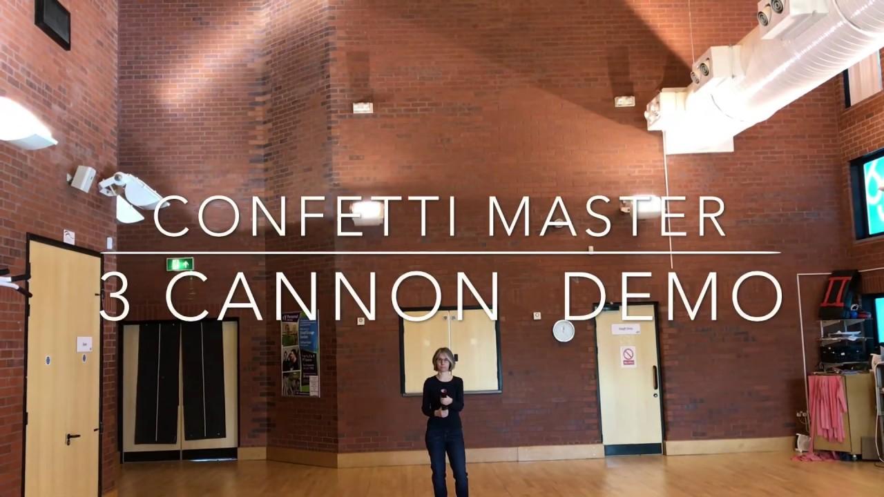 Confetti Cannon Demonstration | Size Comparison | Distance & Payload.