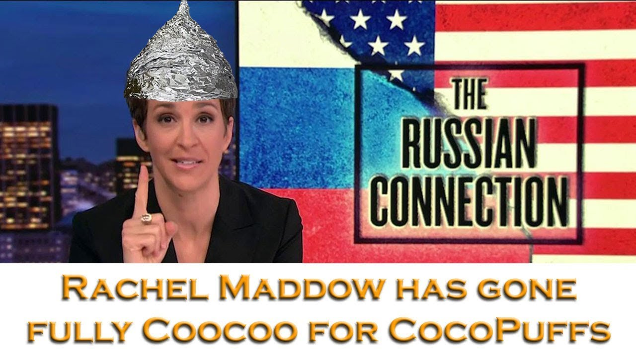 Image result for image of rachel maddow with tin foil hat