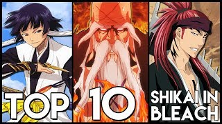 Top 10 Shikai In Bleach