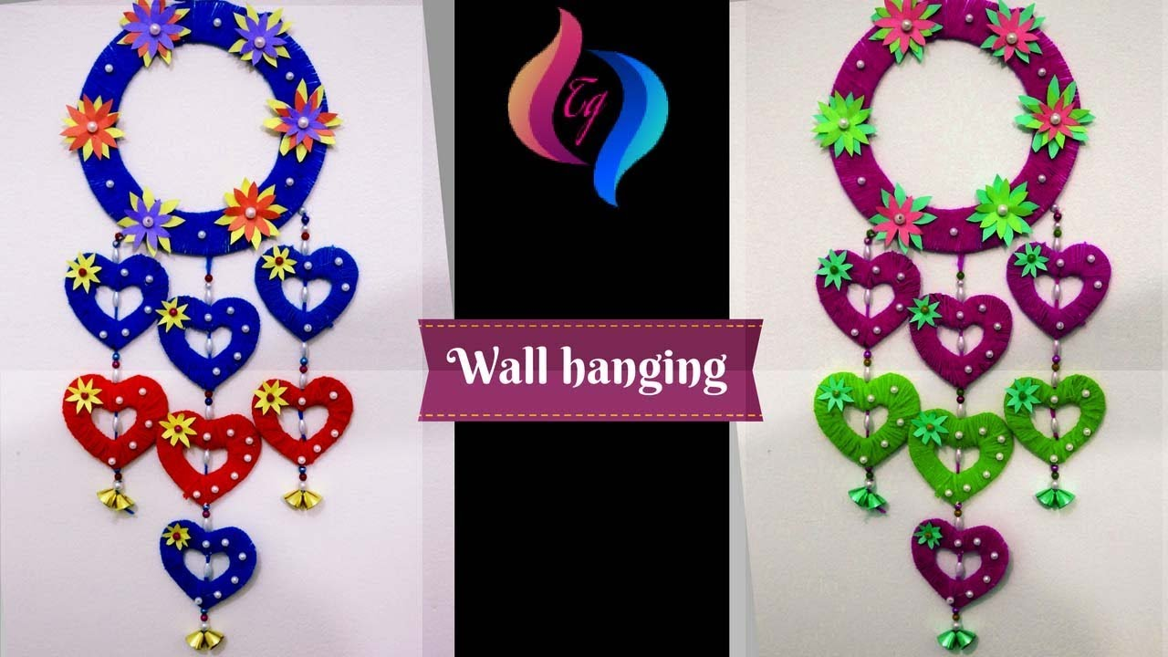 Wall hanging craft ideas how to make craft items from for Hand craft in waste material